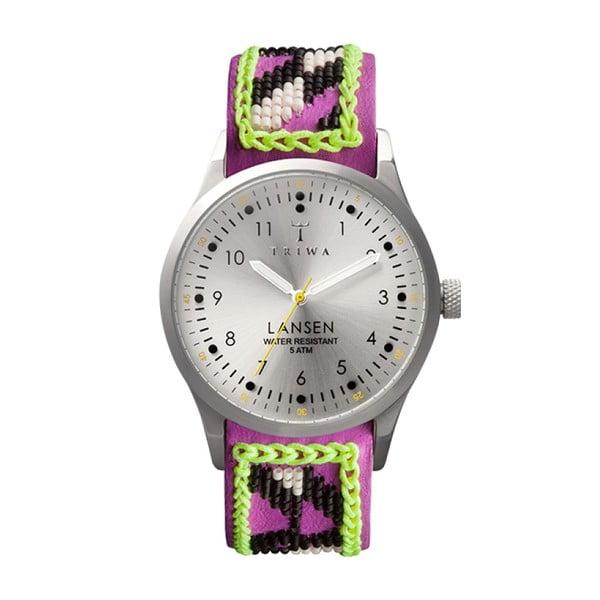 Unisex hodinky s fialovým koženým remienkom Triwa Fiona Paxton Stirling Lansen