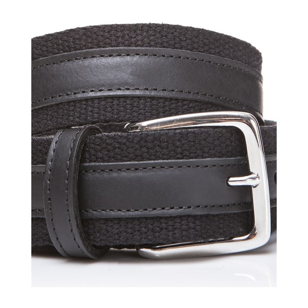 Kožený opasok Black Fabric, 130 cm