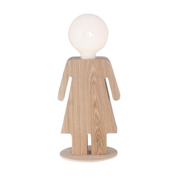 Drevená stolová lampa Anastasia
