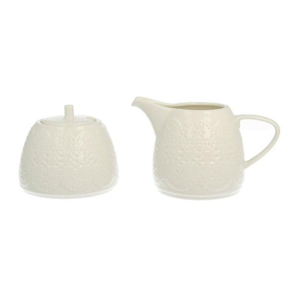 Cukornička a nádoba na mlieko Duo Gift Koronka
