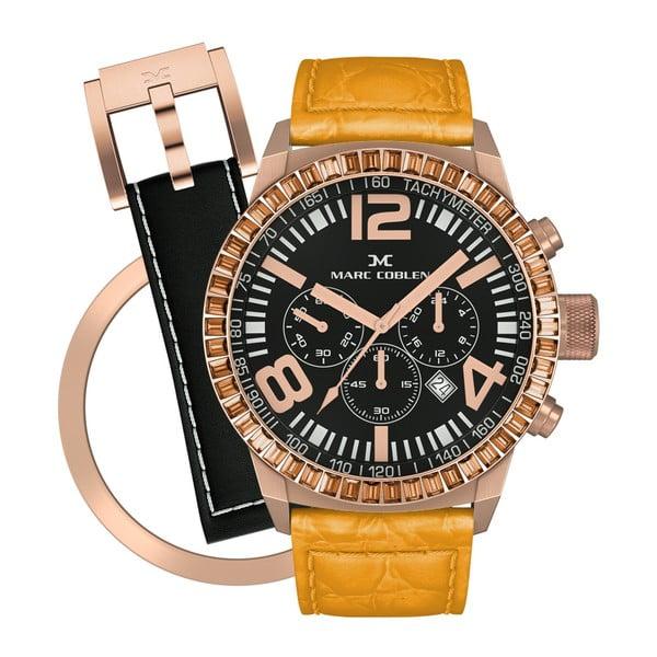Dámske  hodinky Marc Coblen s remienkom a krúžkom na ciferník naviac P119