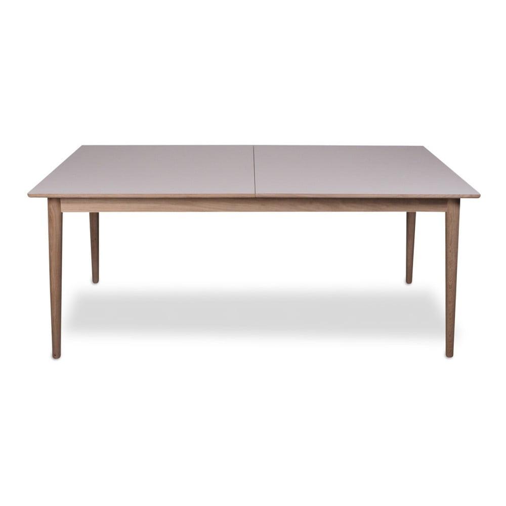 Rozkladací jedálenský stôl so svetlou doskou WOOD AND VISION Sesame, 175 × 90 cm