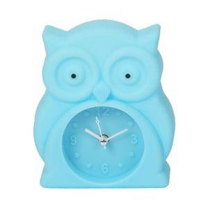 Svetlomodré hodiny s budíkom Just 4 Kids Blue Owl