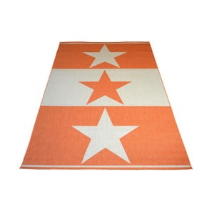 Oranžový vysokoodolný koberec Floorita Orange Star, 200 x 290 cm