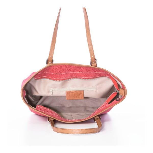 Kožená kabelka Girandola Orange