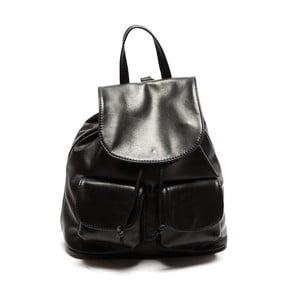 Černý kožený batoh Sofia Cardoni Valerio