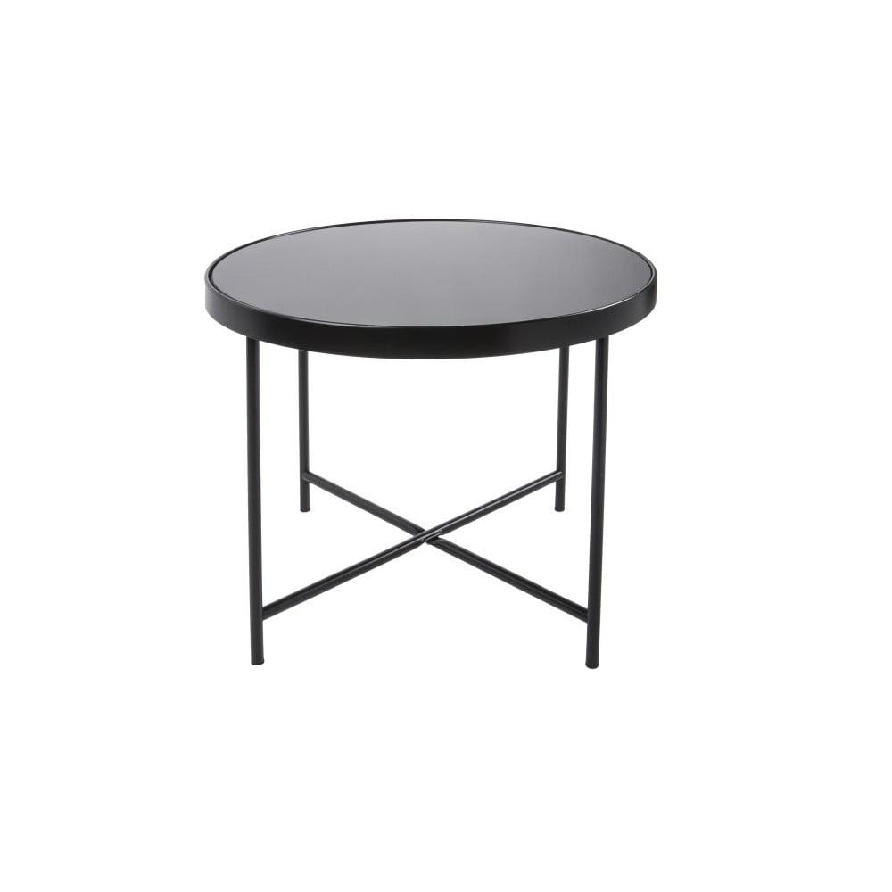 Čierny konferenčný stolík Leitmotiv Smooth XL, ø 60 cm