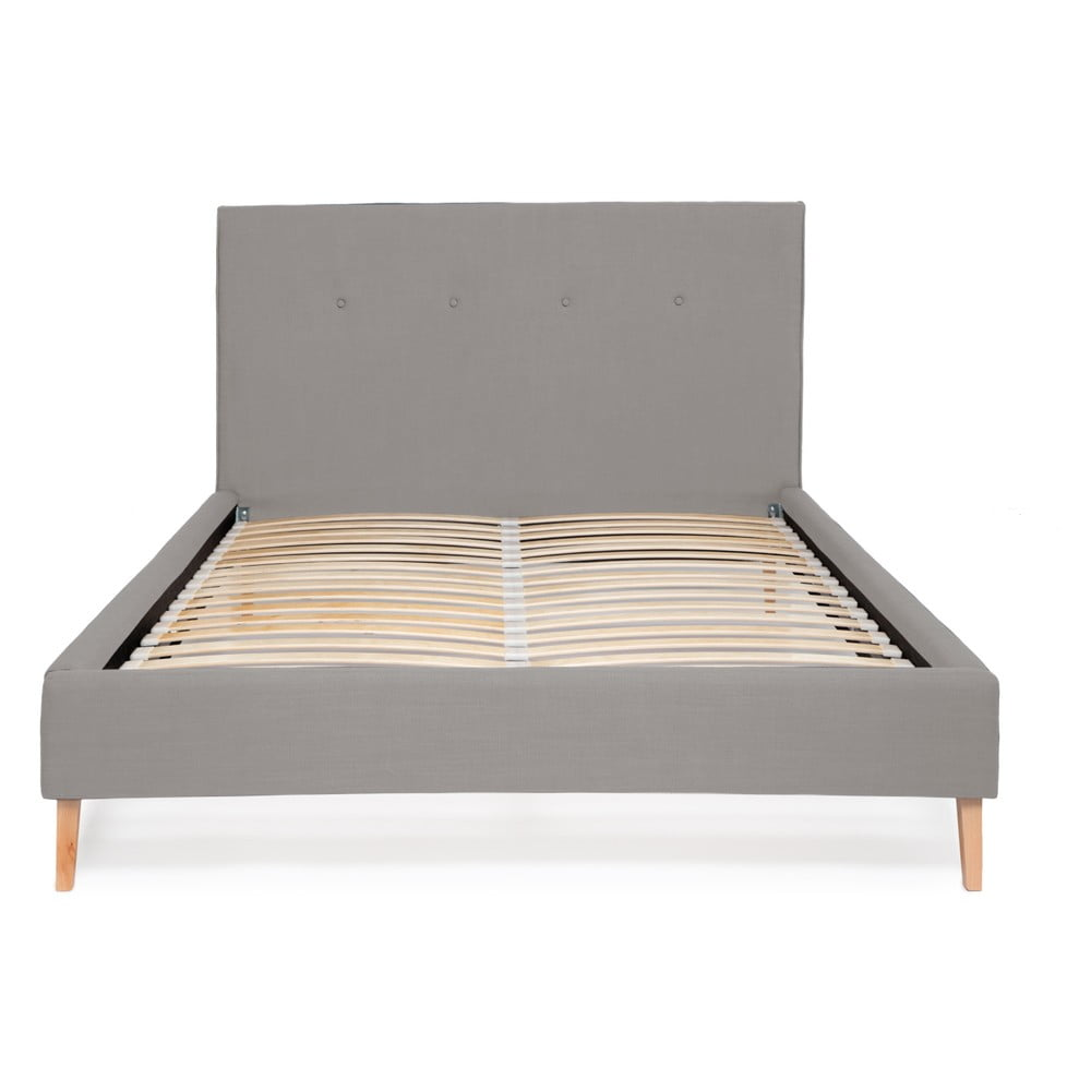 Svetlosivá posteľ Vivonita Kent Linen, 200 × 140 cm