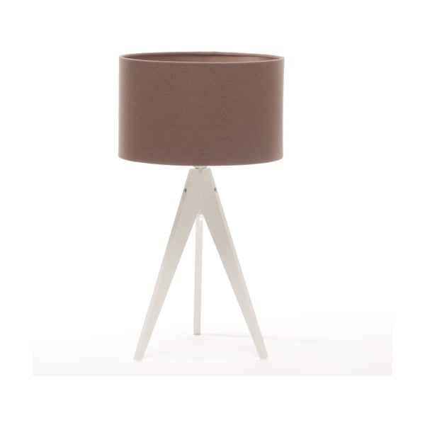 Stolná lampa Arist Dark Taupe/White