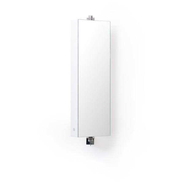 Biela kúpeľňová skrinka so zrkadlom Wireworks Domain, výška 71cm