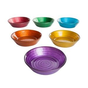 Sada 6 farebných sklenených misiek Mezzo, ⌀ 12 cm