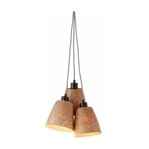 Závesné svietidlo z drevenej drviny pre 3 žiarovky Good&Mojo Sequoia