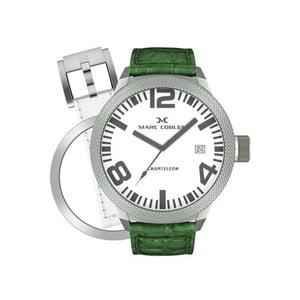 Pánske hodinky Marc Coblen s remienkom a ozdobou ciferníku naviac P19