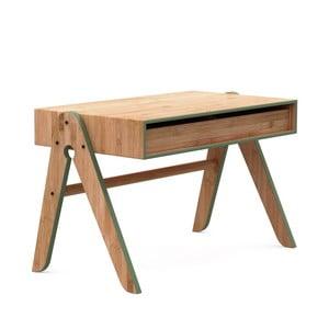 Detský písací stôl z bambusu Moso so zelenými detailmi We Do Wood Geo 's