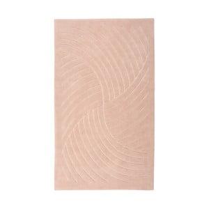 Ružový koberec Floorist Waves,80x300cm