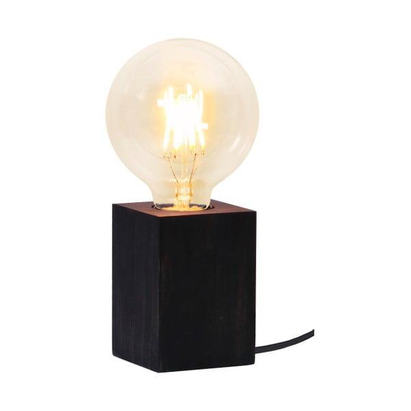 Čierna drevená lampa Best Season Lys