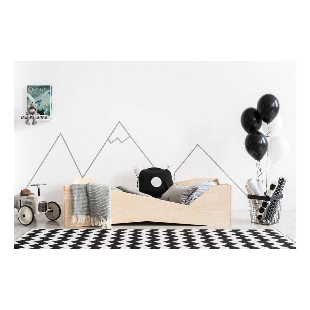Detská posteľ z borovicového dreva Adeko BOX 5, 100 × 200 cm