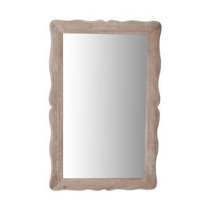 Zrkadlo v krémovom ráme z topoľového dreva Livin Hill Pesaro, výška 80 cm