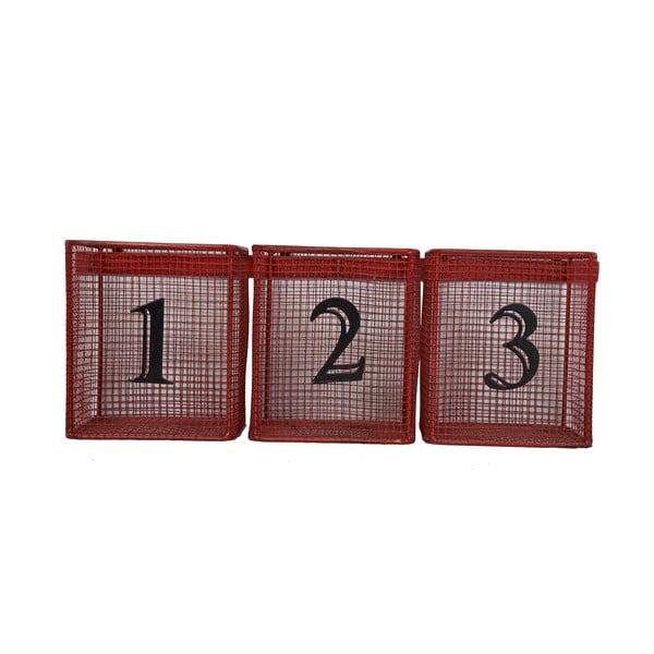 Nástenné košíky Red Numbers