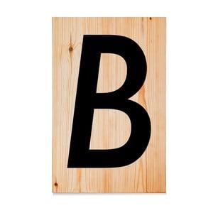 Drevená ceduľa Letters B
