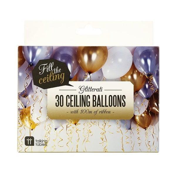 Sada 30 balónikov Balloons & Curling Ribbon