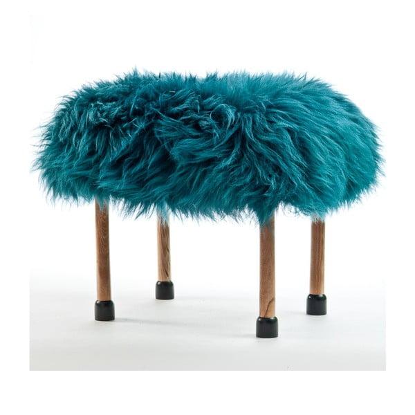 Stolička z ovčej kože Nerys Teal