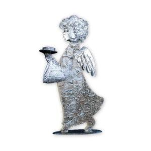 Dekoratívny anjel so svietnikom