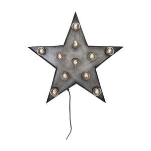 Sivá nástenná svetelná dekorácia Kare Design Star
