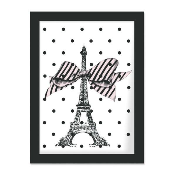Plagát v ráme Eiffel and Dots, 30x40 cm