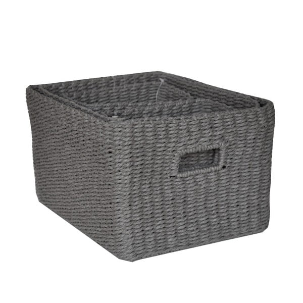 Sada 4 košíkov Regate Dark Grey, 32x26 cm