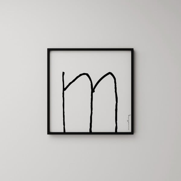 Plagát Litera M, 50x50 cm