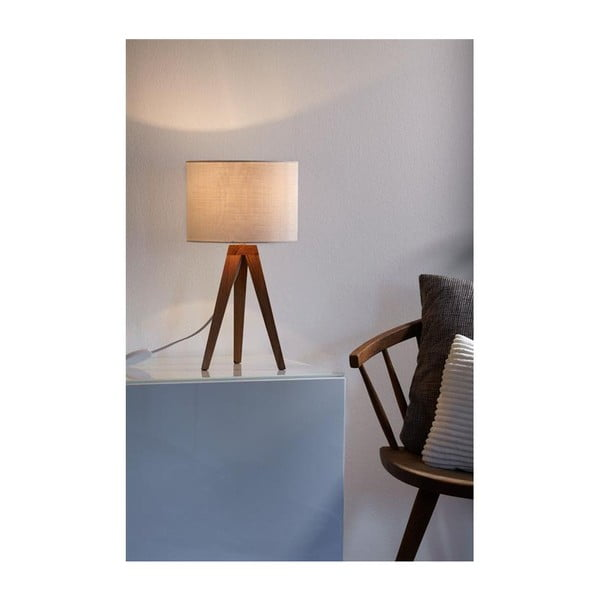 Biela stolová lampa Markslöjd Kullen, 28 cm