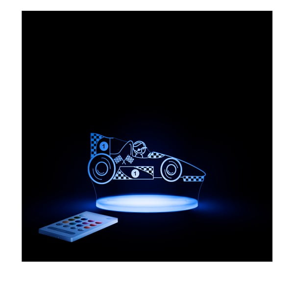 Detské LED nočné svetielko Aloka Race Car