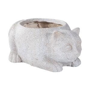 Kvetináč z cementu v tvare mačky Shaun Cat, dĺžka 40 cm