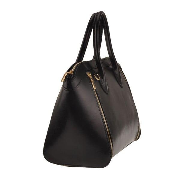 Kožená kabelka Sadira, čierna