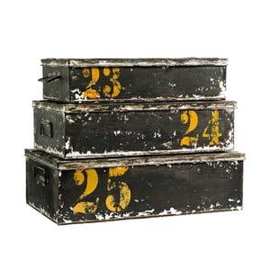 Set 3 krabíc Antique Black