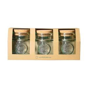 Sada 3 dóz z recyklovaného skla Ego Dekor Authentic, 250 ml