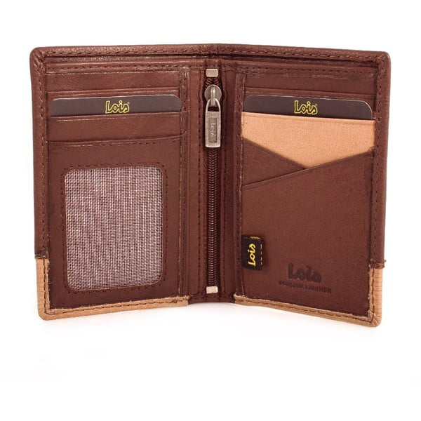 Kožená peňaženka Lois Wood, 11x8 cm