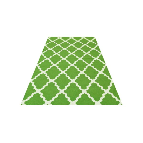 Vlnený koberec Kilim Jasmina Green, 160x230 cm