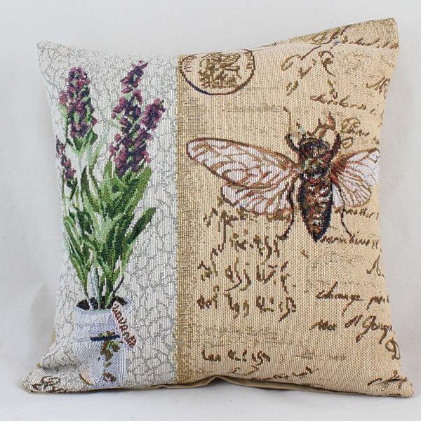 Obliečka na vankúš Dakls Lavender Bee, 40 x 40 cm