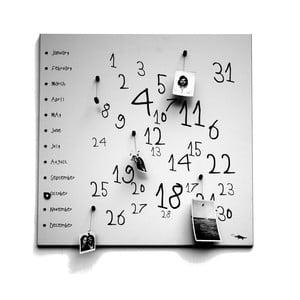 Magnetický kalendár dESIGNoBJECT.it Krok White, 50 x 50 cm