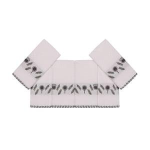 Sada 6 béžových bavlnených uterákov Beyaz Kanaro, 30×50 cm