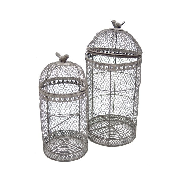 Sada 2 dekoratívnych klietok Birdcage