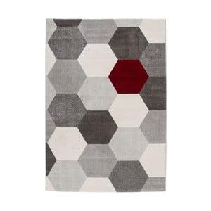 Koberec Sevilla Grey/White, 110x60 cm