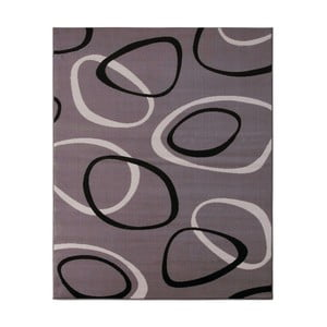 Sivý koberec Hanse Home Prime Pile Rings Grey, 60x110cm