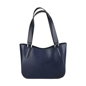 Modrá kožená kabelka Chicca Borse Sandrine