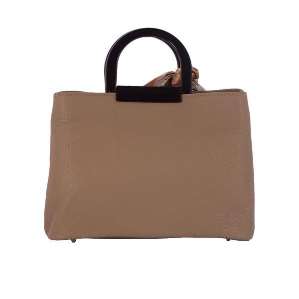 Béžová kabelka z pravej kože Andrea Cardone Angelo