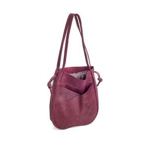 Ružová kožená kabelka Woox Bella Rosea