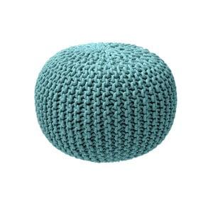 Světle modrý pletený puf ZicZac