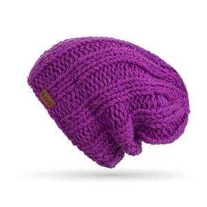 Fialová ručne pletená čiapka DOKE Mina